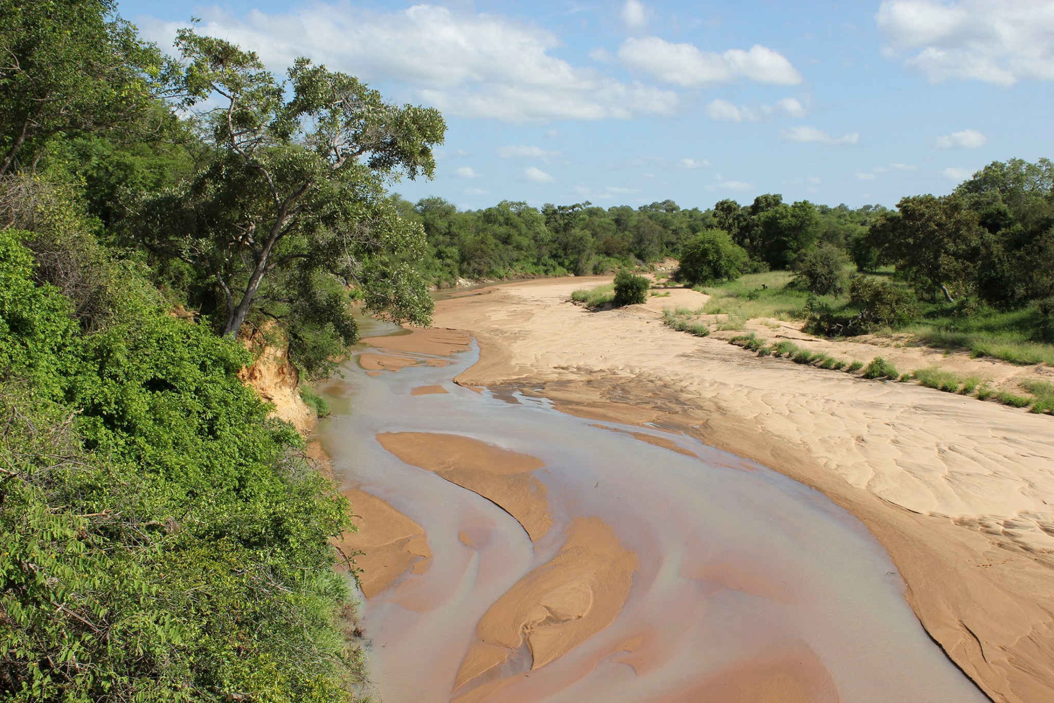 Photo of sand river
