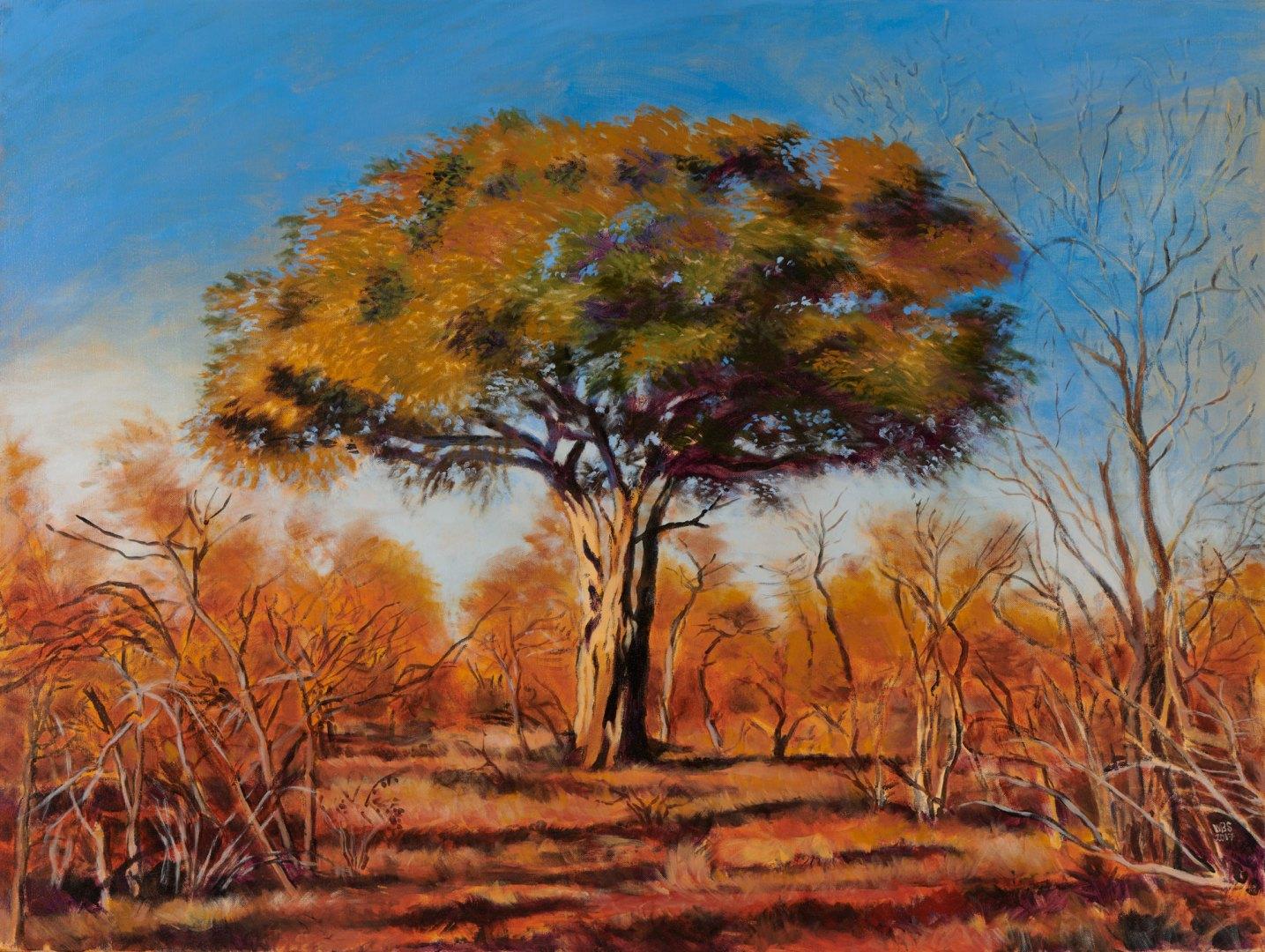 Green thorn, acrylic on canvas, 122 cm x 91 cm, SOLD